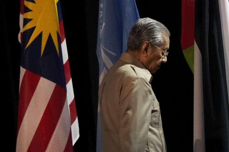 馬來西亞前任總理馬哈地(Mahathir Mohamad)(AP)