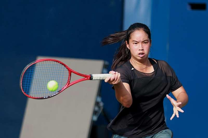 我國女子網球好手,楊亞依。(四維體育推廣教育基金會 提供)