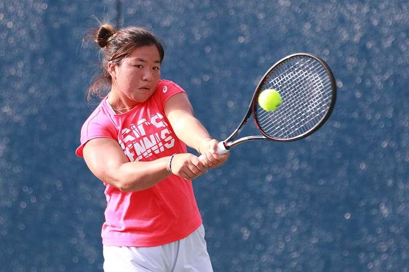 我國女子網球好手,梁恩碩。(四維體育推廣教育基金會 提供)