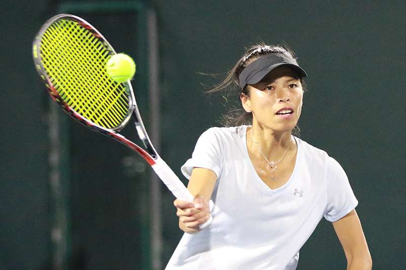 我國女子網球好手,謝淑薇。(四維體育推廣教育基金會 提供)