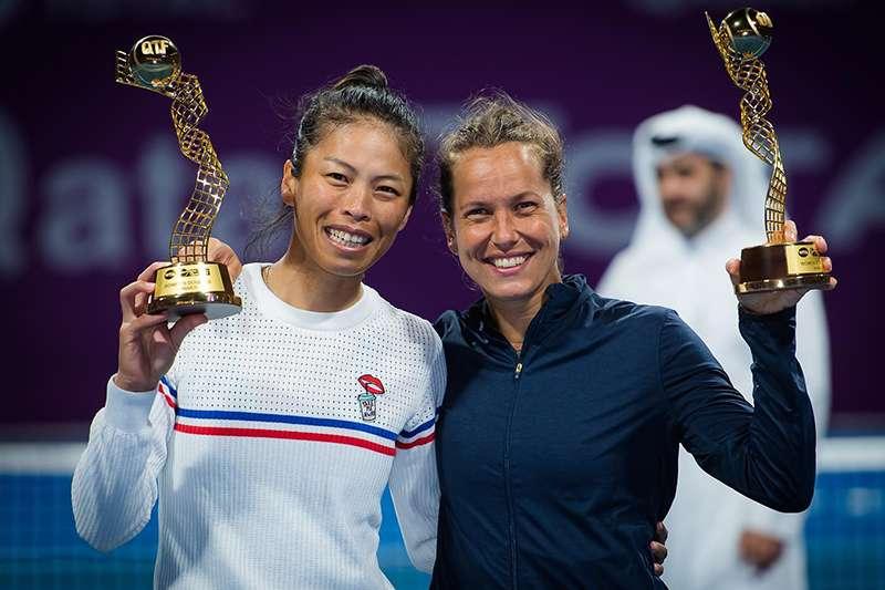 台灣女子網球雙打好手謝淑薇。(圖取自 WTA 臉書粉絲頁)