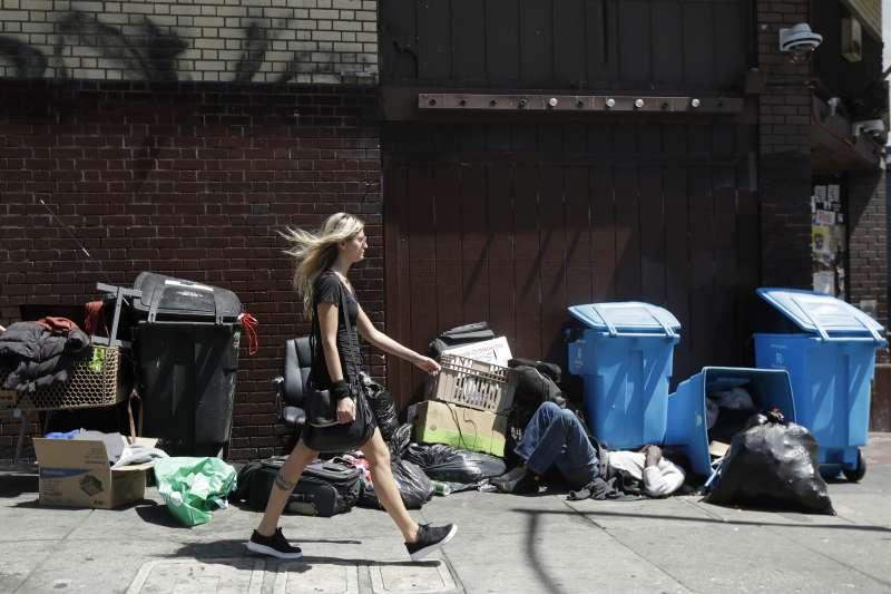 武漢肺炎:舊金山街頭的遊民,恐成為美國防疫死角(AP)