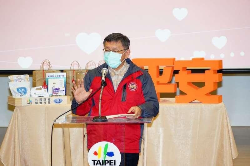台北市長柯文哲7日接受台視新聞專訪時說,若他擔任疫情指揮官,表現應該也不會太差。(資料照,台北市政府提供)