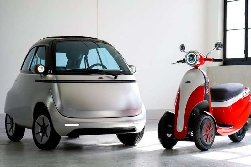 瑞士的車商以1950年代中期BMW推出的「泡泡車」為靈感,發表了名為「Microlino」的超迷你雙人座電動原型車。(圖/瘋設計)