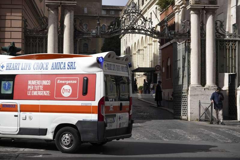 2020年3月5日,梵蒂岡(教廷)出現第一例武漢肺炎(新冠肺炎)病例。(AP)