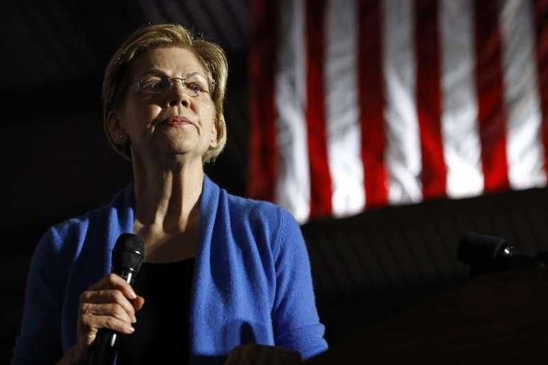 2020年美國總統大選,民主黨參選人華倫(Elizabeth Warren)(AP)