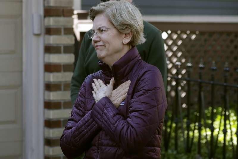 2020年3月5日,美國總統大選,民主黨參選人華倫(Elizabeth Warren)宣布退選(AP)