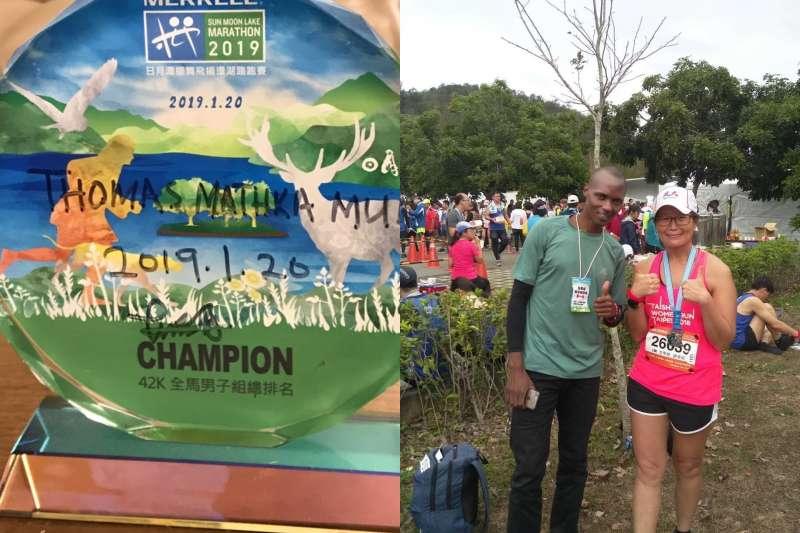 馬拉松比賽因武漢肺炎疫情取消、停辦,許多人的跑步行事曆要重新安排,這許多人包括來自肯亞的湯姆(Thomas Muli)。(圖/謝幸吟提供)