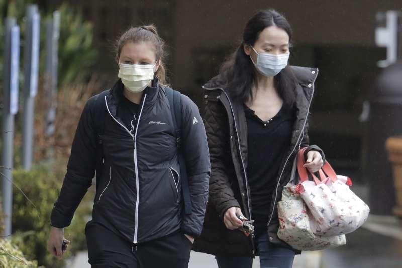 2020年3月,美國武漢肺炎(新冠肺炎)疫情升溫,民眾也提高警覺(AP)
