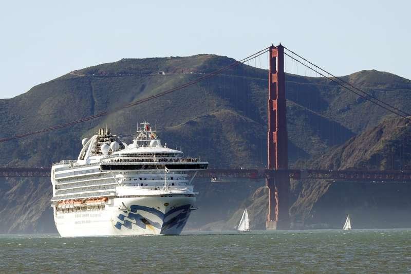 至尊公主號目前被迫滯留在美國加州舊金山外海(美聯社)