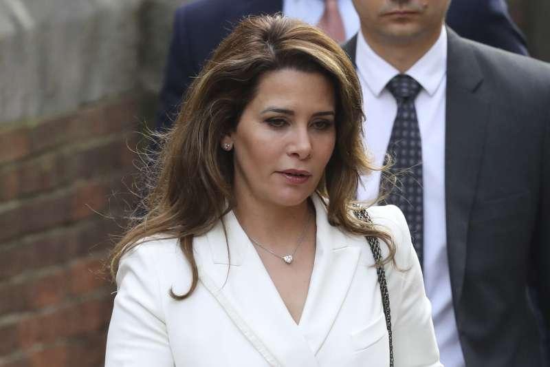 杜拜王妃哈雅公主,去年向英國法院申請離婚與保護令,指控杜拜酋長威脅並試圖綁架她與孩子回國。(AP)