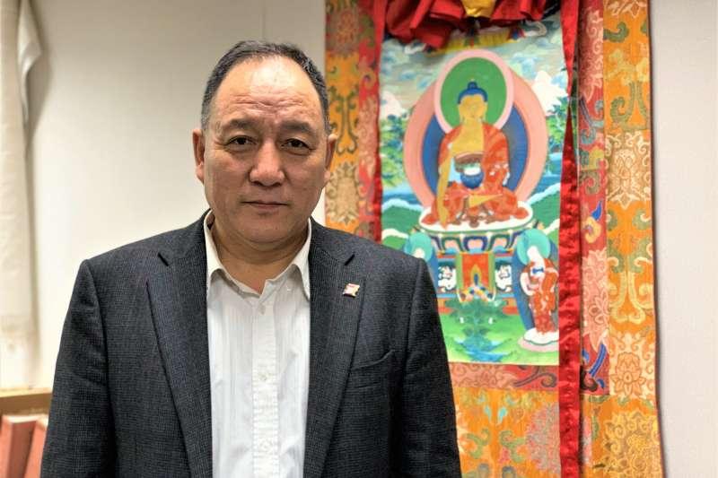 西藏抗暴61周年:西藏駐台代表、達賴喇嘛西藏宗教基金會董事長達瓦才仁(簡恒宇攝)