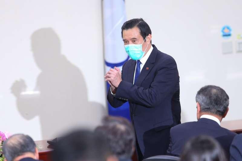 20200309-前總統馬英九9日出席「109年黨主席補選新任主席就職典禮」。(顏麟宇攝)