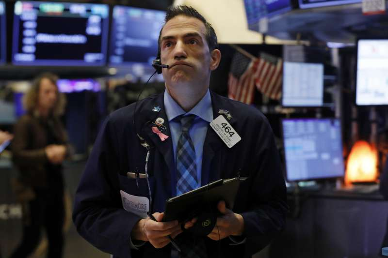 華爾街,美股,股市崩盤,全球股市狂跌。(AP)