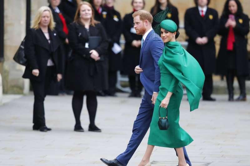 英國哈利王子與妻子梅根9日出席大英國協日慶祝活動,這是兩人最後的王室公開活動,此後將正式退出王室高階成員行列。(AP)