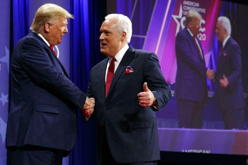 川普2月29日參加保守派年度大會師活動「保守派政治行動會議」。(美聯社)
