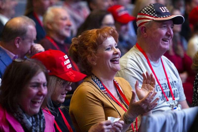 川普2月29日參加保守派年度大會師活動「保守派政治行動會議」,傳出參與民眾有人確診武漢肺炎。(美聯社)