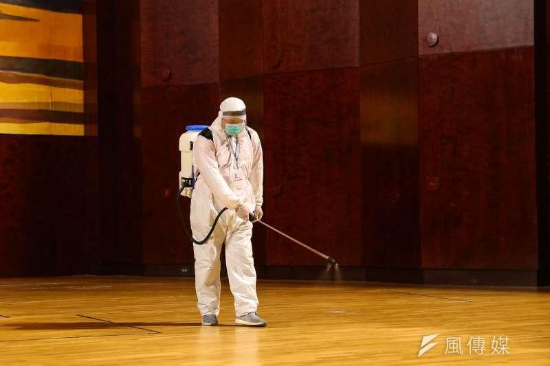 受到澳籍音樂家確診武漢肺炎影響,國家兩廳院閉館進行全面消毒。(資料照,顏麟宇攝)