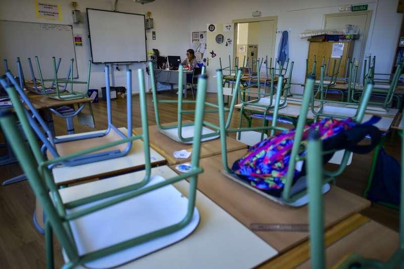 武漢肺炎(COVID-19、新冠病毒)肆虐,多國宣布停課。西班牙部分學校已經關閉。(AP)