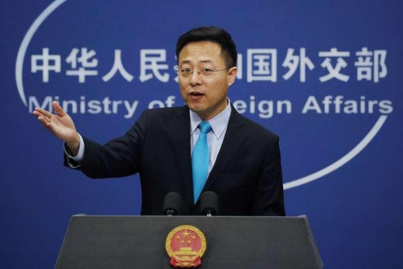 中國外交部發言人趙立堅。(美聯社)