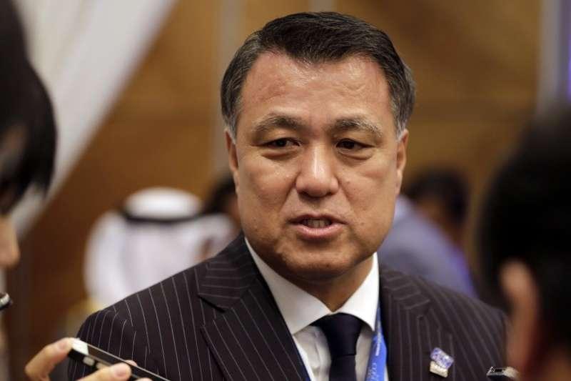 日本足協主席、日本奧委會副主席田嶋幸三3月17日證實感染武漢肺炎(COVID-19、新冠肺炎)。(AP)