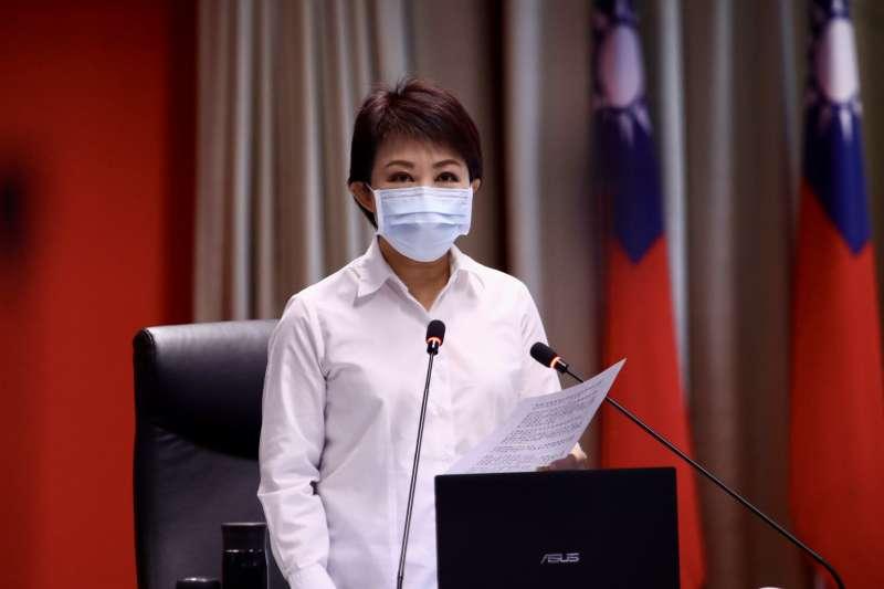 台中市長盧秀燕在市政會議中強調,15至24歲青年失業率創近8年新低,市府將持續努力,讓青年安心。(圖/台中市政府提供)
