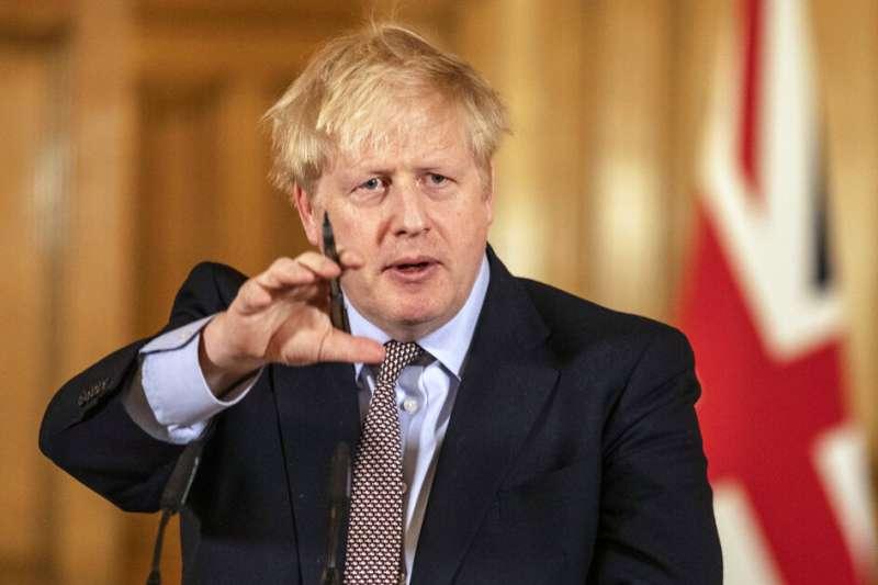 英國首相強森感染新冠肺炎住院治療。(美聯社)