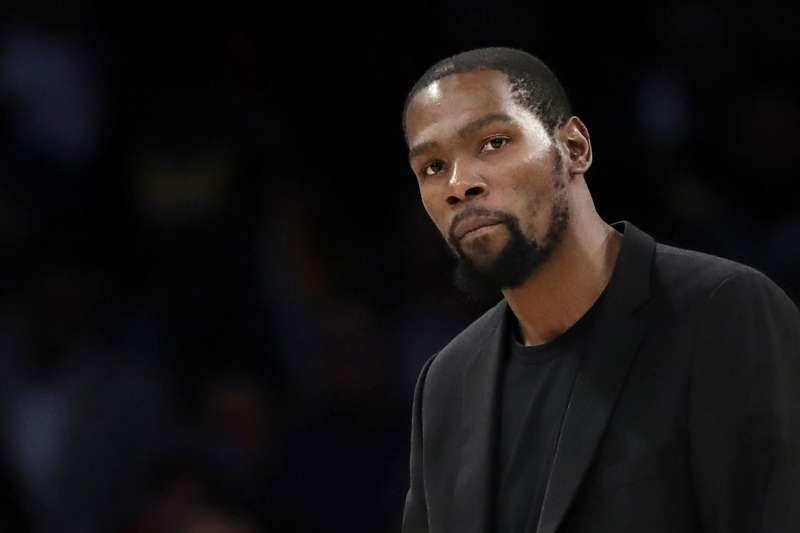 NBA球星杜蘭特確診新冠肺炎。(AP)