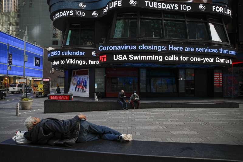 2020年3月,新冠肺炎(武漢肺炎)疫情讓美國第一大城紐約市停擺(AP)