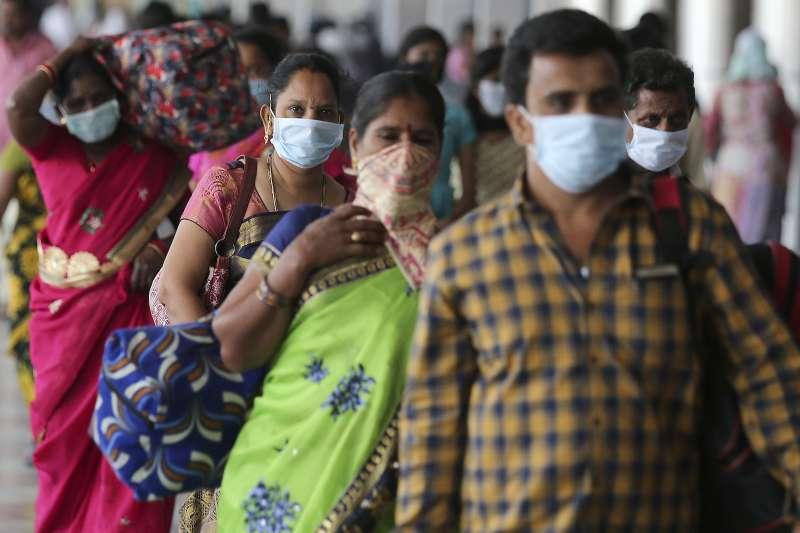 2020年3月,印度新冠肺炎(武漢肺炎)疫情惡化(AP)