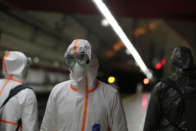 2020年,新冠肺炎(武漢肺炎)風暴侵襲西班牙(AP)
