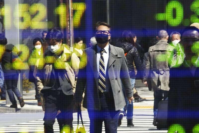 新冠肺炎疫情肆虐,全球股市跌跌不休。(美聯社)