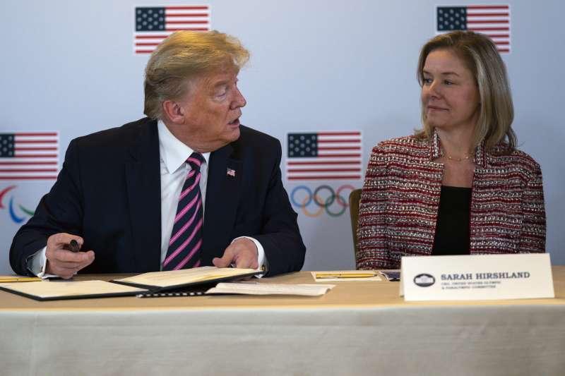 美國奧會發出聲明,認為奧運延期是最好選擇。(AP)