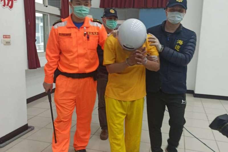 越南偷渡客黃義強(見圖)今(25)日被逮,所幸逃亡期間未有染病或傳染疑慮。(資料照,海巡署偵防分署提供)