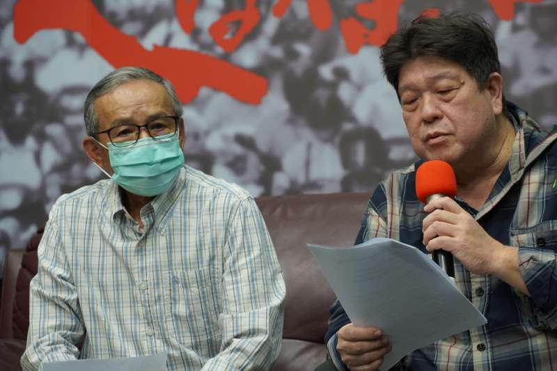 20200325-綠光劇團《人間條件》系列首次取消演出。吳念真(左)、羅北安(右)。(資料照,綠光劇團提供)