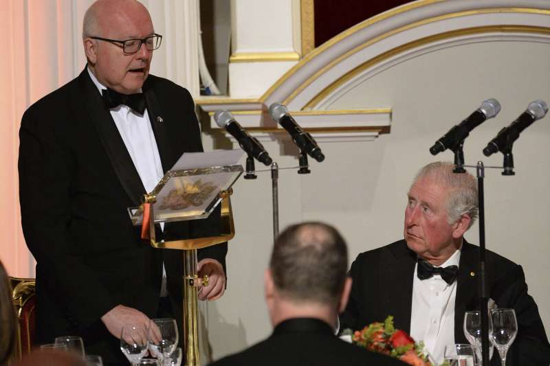 武漢肺炎:英國王儲查爾斯3月12日出席倫敦市長官邸活動(AP)