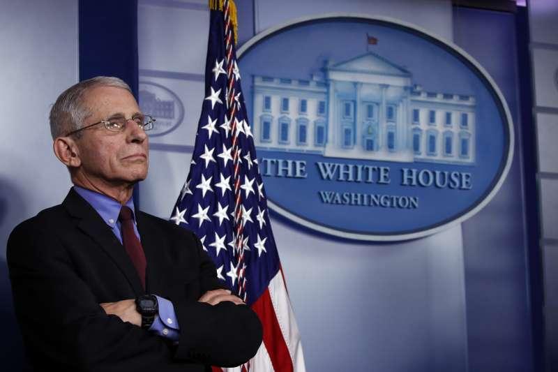 美國對抗新冠肺炎(武漢肺炎)疫情關鍵人物,美國國立過敏與傳染病研究院(NIAID)主任佛奇(Anthony Fauci)博士(AP)