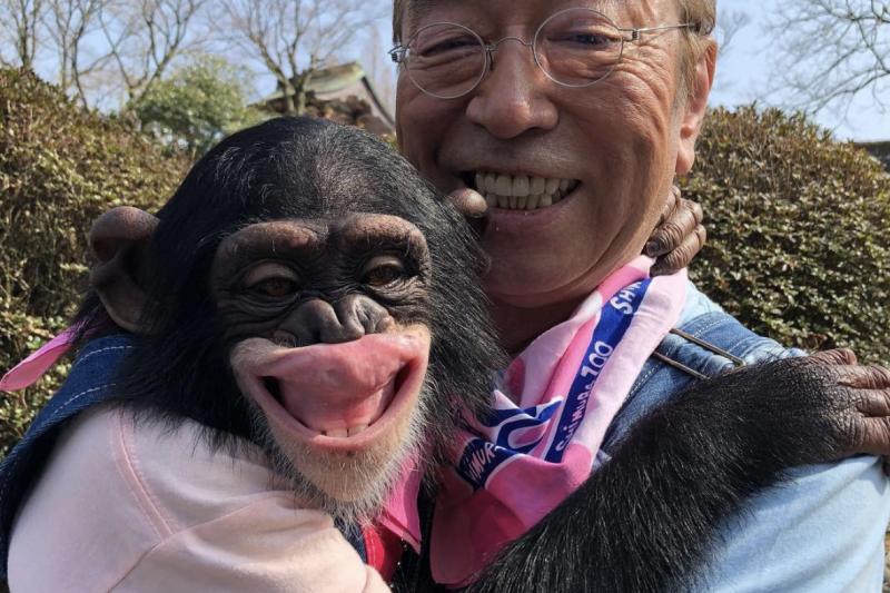 志村健與小龐(圖/志村健 Instagram)