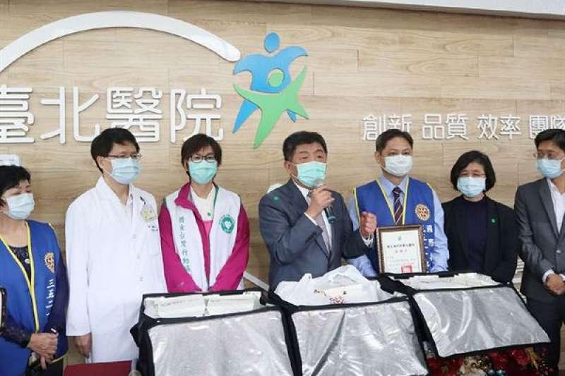 陳時中部長特別感謝防疫醫護人員的辛苦。(圖片提供/臺北醫院)
