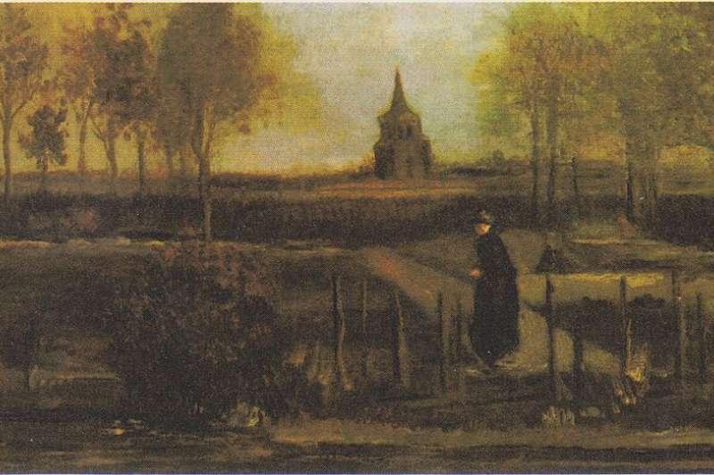 梵谷名畫《春季努能小鎮的牧師公館花園》30日遭竊(Wikipedia/Public Domain)