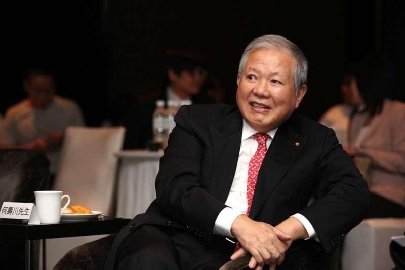 何壽川家族共有36家相關事業與家族成員持有永豐金,是永豐集團內持股最多的一家公司。(郭晉瑋攝)