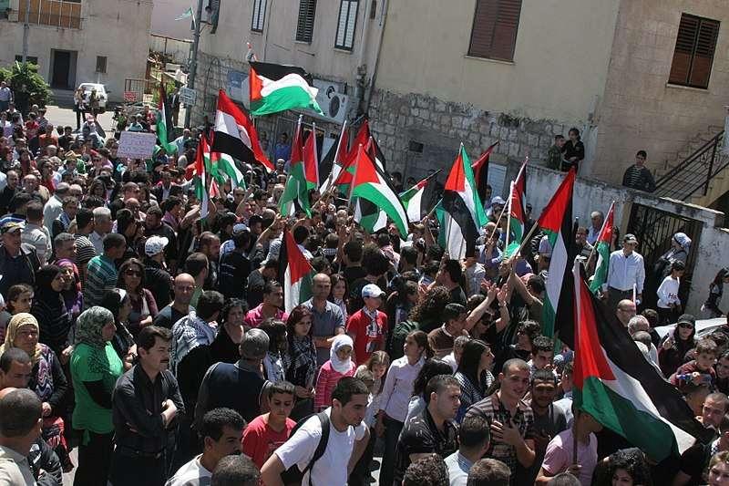 2010年巴勒斯坦「土地日」紀念遊行。(Makbula Nassar@wikipedia_CCBYSA4.0)