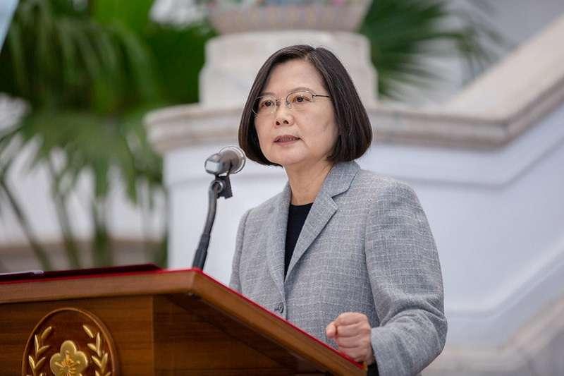 作者認為,蔡英文總統對中華民國沒有感情。(總統府官網)