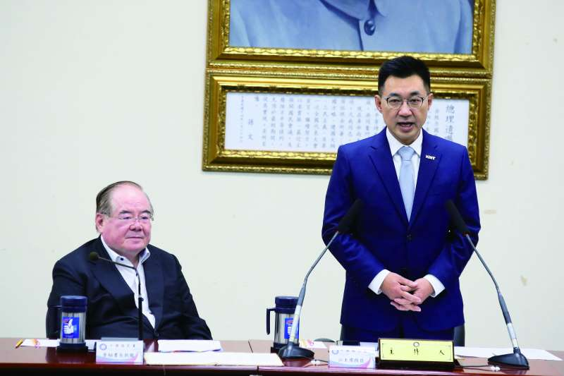 國民黨主席江啟臣從歷史學習用人之道。(柯承惠攝)