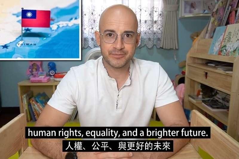 吳鳳上傳影片為台灣發聲。(圖/取自吳鳳臉書)