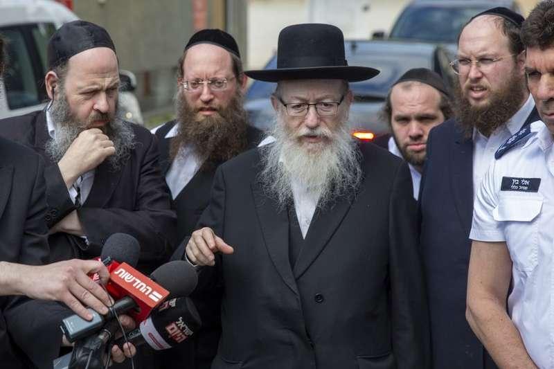 以色列衛生部長利茲曼(Yaakov Litzman)確診新冠肺炎 (美聯社)