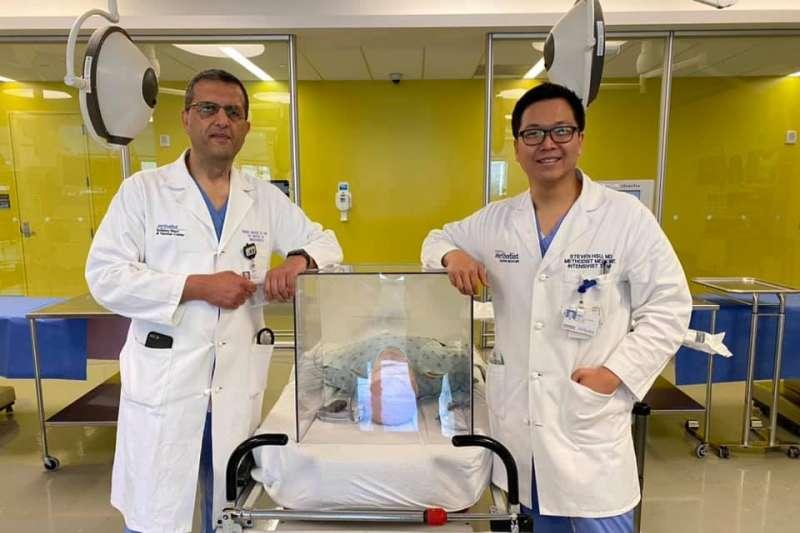 賴賢勇的臉書頁面,可見各國醫師展示他們自製成功的「防疫箱」,並留言紛紛表示感謝(圖片來源:賴賢勇臉書)