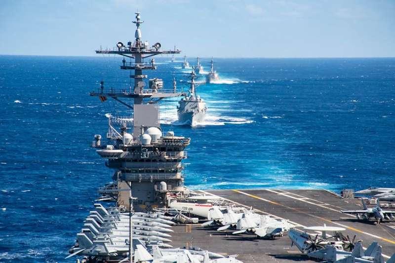 美軍航母「羅斯福號」。(官方臉書)