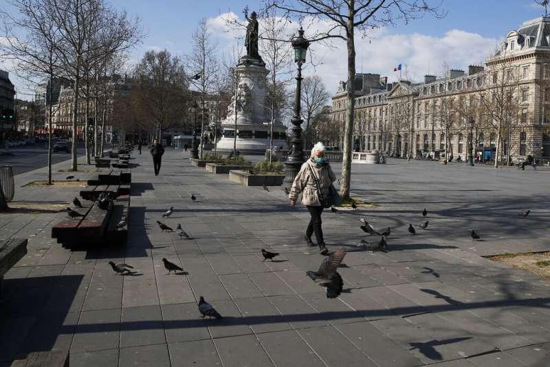 法國受新冠肺炎(武漢肺炎)衝擊。(AP)