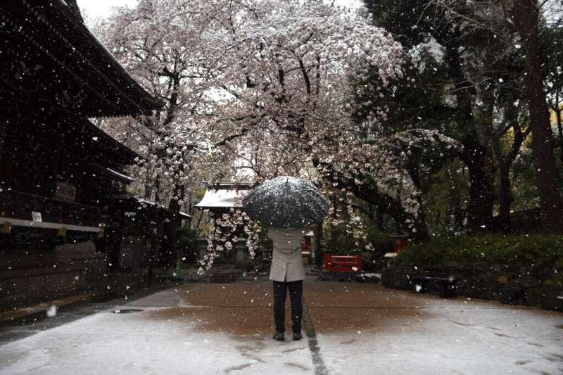 日本受新冠肺炎(武漢肺炎)衝擊,政府呼籲在家上班、盡量別外出。(AP)